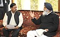 The Chief Minister of Punjab, Shri Parkash Singh Badal calling on the Minister of State for Culture (Independent Charge), Tourism (Independent Charge) and Civil Aviation, Dr. Mahesh Sharma, in New Delhi on February 13, 2015 (1).jpg