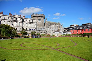 Dublin Castle - The Dubhlinn Gardens, which were completed in 1680, are located adjacent to Dublin Castle