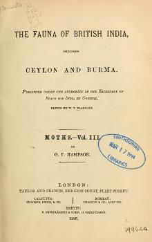 The Fauna of British India, including Ceylon and Burma (Moths Vol 3).djvu