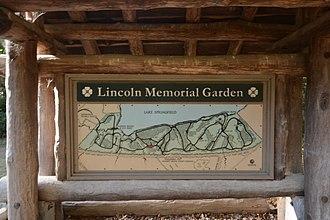 Abraham Lincoln Memorial Garden - Image: The Lincoln Memorial Garden Image