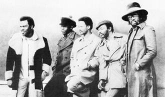 "The Manhattans - The Manhattans in 1972.(L-to-R) Richard ""Ricky"" Taylor, Gerald Alston, Walt ""Kenny"" Kelly, Ed ""Sonny"" Bivins, Winfred ""Blue"" Lovett"