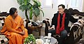 The Minister of State for Food Processing Industries, Sadhvi Niranjan Jyoti calling on the Minister of State for Home Affairs, Shri Kiren Rijiju, in New Delhi on February 02, 2017.jpg