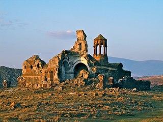 ruins of armenian monastery in Turkey