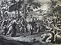 The Phillip Medhurst Picture Torah 290. Aaron spoke to the the people. Exodus cap 4 vv 30-31. Le Potre.jpg