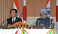 The Prime Minister, Dr. Manmohan Singh and the Prime Minister of Japan, Mr. Yoshihiko Noda, at the joint press conference, in New Delhi on December 28, 2011.jpg