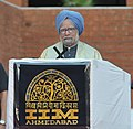 The Prime Minister, Dr. Manmohan Singh delivers the convocation address at the 46th Annual Convocation of Indian Institute of Management, Ahmedabad, in Gujarat on March 26, 2011.jpg