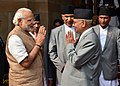 The Prime Minister, Shri Narendra Modi with the Prime Minister of Nepal, Shri K.P. Sharma Oli, in New Delhi on February 20, 2016.jpg