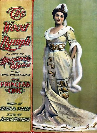 Kirke La Shelle - The Princess Chic sheet music featuring Marguerita Sylva, c. 1901