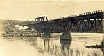 The S.S. D.A. Thomas passing under the railway bridge at Peace River Crossing.jpg