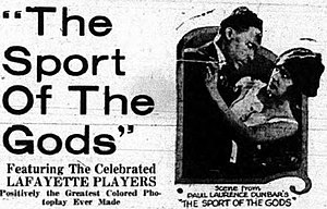 The Sport of the Gods - Newspaper ad for film