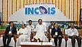 The Vice President, Shri M. Venkaiah Naidu at an event to interact with the Scientists of the Indian National Centre for Ocean Information Services (INCOIS) and the National Tsunami Warning Centre, in Hyderabad.JPG