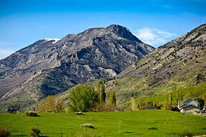 Lindon, Utah - The Wasatch mountain range north of Lindon.