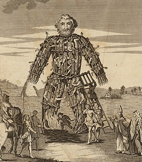 Wicker man Effigy for burning in pagan ritual