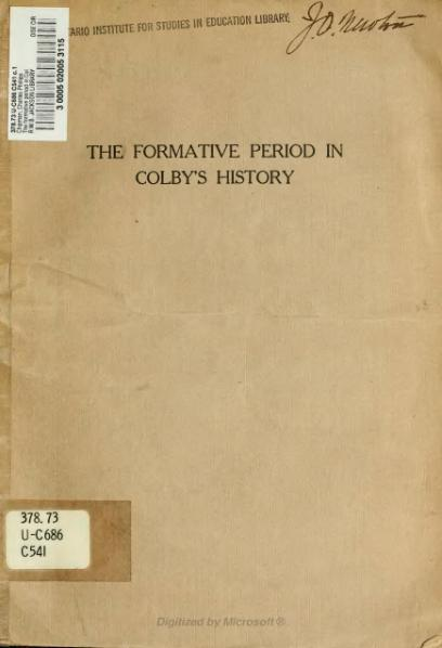 File:The formative period in Colby's history.djvu