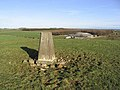 The trig point on Ell Hill - geograph.org.uk - 322643.jpg