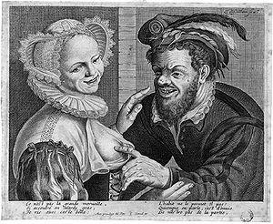 Theodor Matham - Theodor Matham, galant scene.