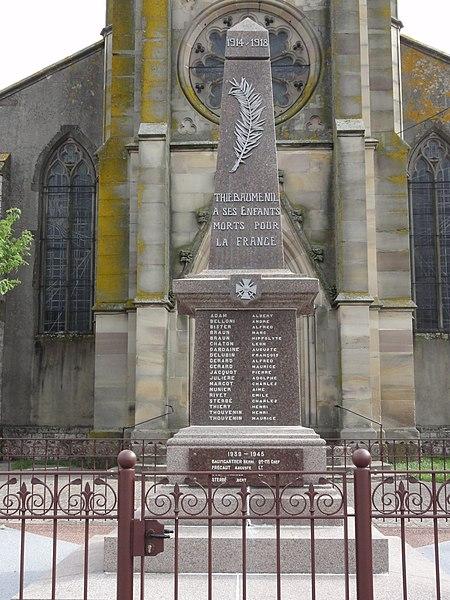 Thiébauménil (M-et-M) monument aux morts