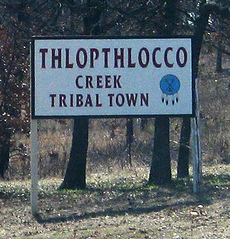 Thlopthlocco Tribal Town - Sign to Tribal Town