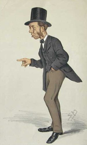 """Thomas Collins (UK politician) - """"Noisy Tom"""" Collins as caricatured by Spy (Leslie Ward) in Vanity Fair, September 1873"""