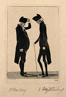Thomas Hay and Sir James Stirling, arguing. Etching by J. Ka Wellcome V0006717