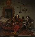 Thomas Hees met zijn neven Jan en Andries Hees en een bediende Rijksmuseum SK-C-1215.jpeg