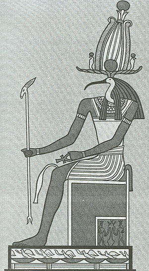 Valley of Dreams - Ancient Egyptian illustration of Thoth seated on his throne.