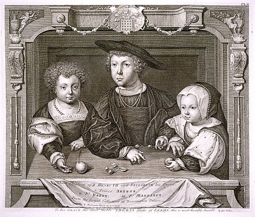 Three Children of Henry VII and Elizabeth of York Wellcome L0021667