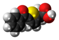 Tiaprofenic acid molecule spacefill.png