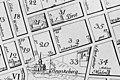 Tillaeus karta 1733 kv Hägern större, Hägern mindre mm.jpg