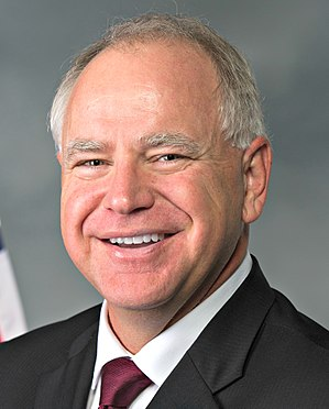 United States congressional delegations from Minnesota - Image: Tim Walz official photo (cropped)