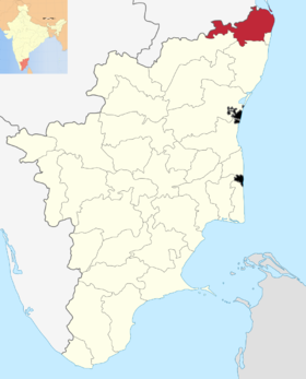 Localisation de District de Tiruvallur