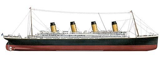 Titanic Stardboard Side Diagram