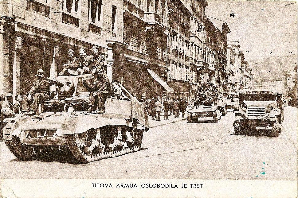 Titova armija osvobodila je Trst 1948