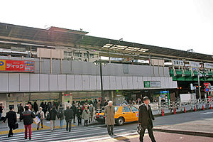 Nakano Station (Tokyo) - The north entrance in December 2006, before rebuilding