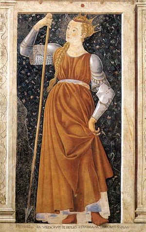 Tomyris - Tomyris as imagined by Castagno, 15th century