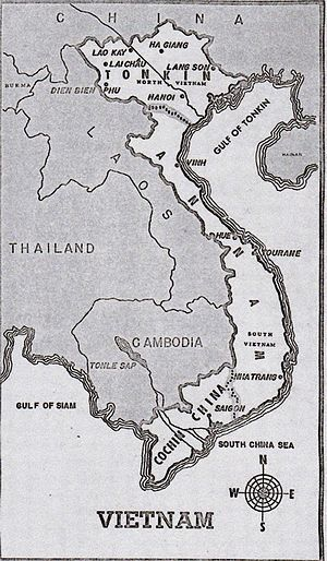 1947–50 in the Vietnam War - Until 1949, the French divided Vietnam into three parts: Tonkin, Annam, and Cochin China.