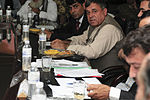 Tooryalai Wesa, center right, the provincial governor of Kandahar province, Afghanistan, meets with members of the International Security Assistance Force July 1, 2013, at Kandahar Airfield, Afghanistan, to 130701-A-AP855-0062.jpg