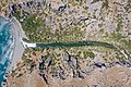 Top down aerial of the river Kissano Faraggi in Kourtaliotiko Gorge on Crete, Greece.jpg