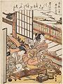 Torii Kiyonaga (c. 1778) Zashiki Hakkei - Kotoji no rakugan.jpg