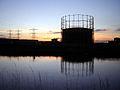 Tottenham gasometer sunset 1.jpg