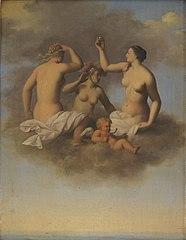Juno, Minerva and Venus with Cupid