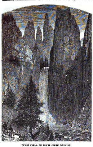 Tower Fall - Image: Tower Falls Langford 1871
