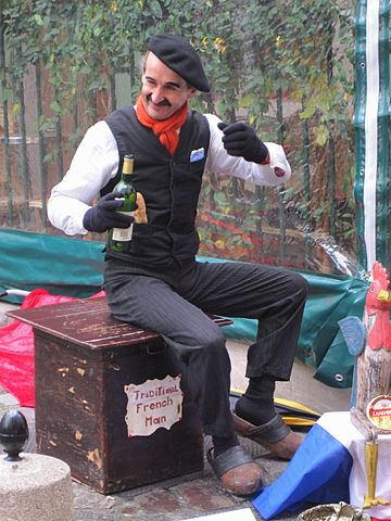 Stereotypical Frenchman By Kim (Flickr: Traditional French man) [CC BY-SA 2.0 (https://creativecommons.org/licenses/by-sa/2.0)], via Wikimedia Commons