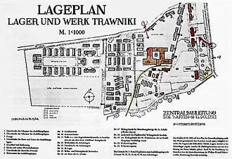Trawniki concentration camp - Image: Trawniki KL Lageplan (1942)