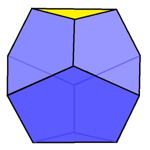 Truncated trapezohedron - Image: Triangular truncated trapezohedron