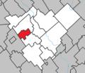 Tring-Jonction Quebec location diagram.png