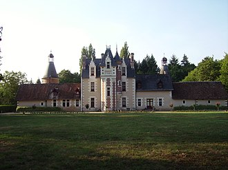 Château de Troussay - The garden façade in Louis XII style