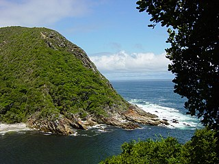 Garden Route coastal region in southern South Africa