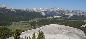 Tuolumne Meadows - Looking west over Tuolumne Meadows, from high on Lembert Dome