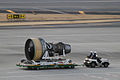 Turbofan engine transported in airport (4330868749).jpg